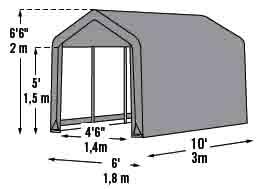 3 Car Metal Garage Kits Metal Steel Frame Carport Car Shed
