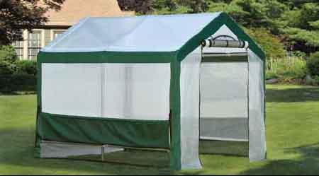 "6x8x6'6"" Organic Growers Greenhouse, Mesh Scrim Cover"