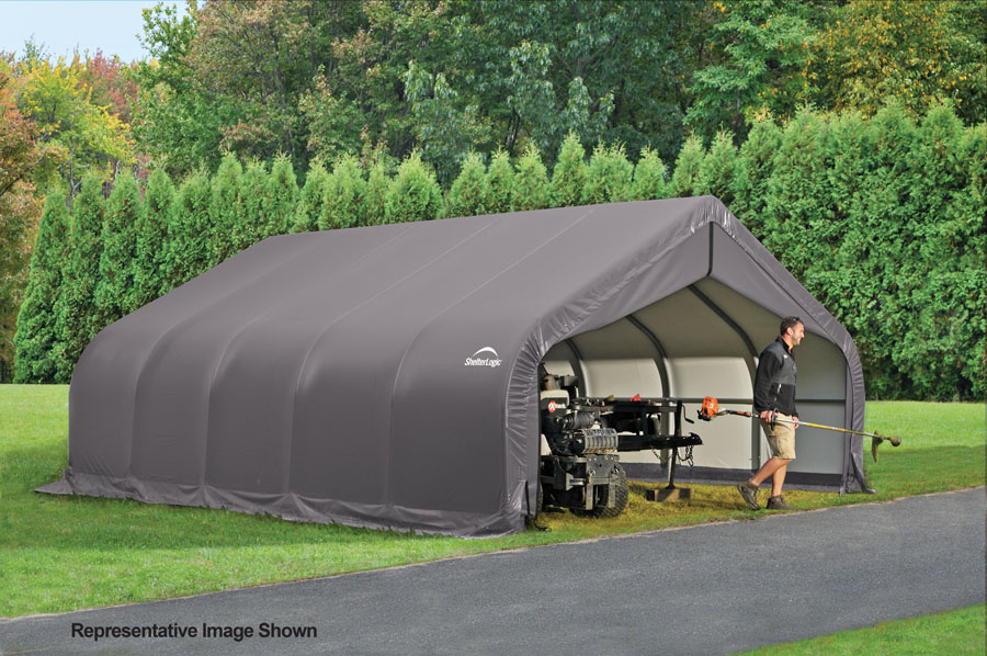 Rv carport with living quarters joy studio design for Motorhome garage kits