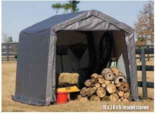 10x16x8 Peak Style Shelter