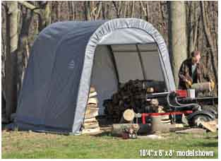 9x8x10 Round Style Shelter