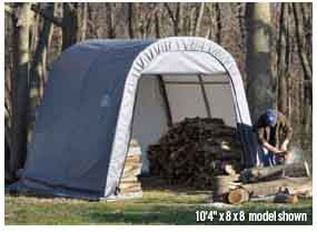 8x16x8 Round Style Shelter
