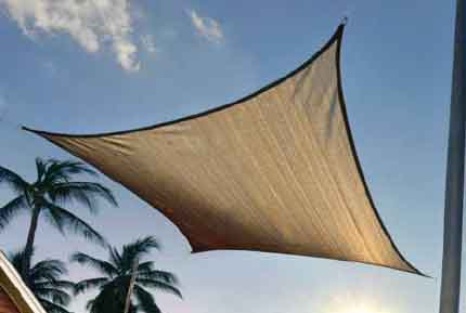 16 ft. / 4,9 m Square ShadeSail - Sand
