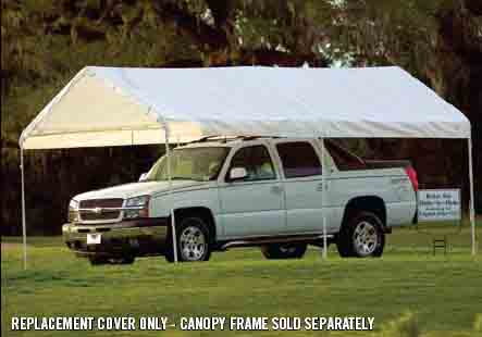 "10×20 White Canopy Replacement Cover, Fits 1-3/8"" Frame"