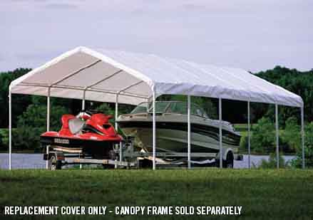 "12×30 White Canopy Replacement Cover, Fits 2"" Frame"