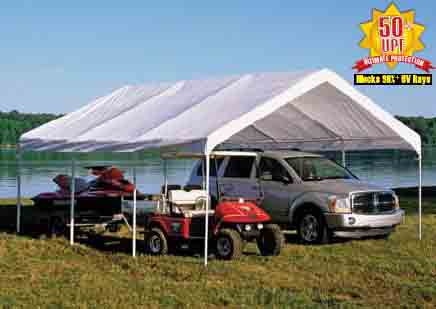 """18×20 Canopy White Replacement Cover for 2"""" Frame"""