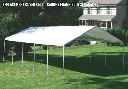 "18×30 Canopy White Replacement Cover for 2"" Frame"