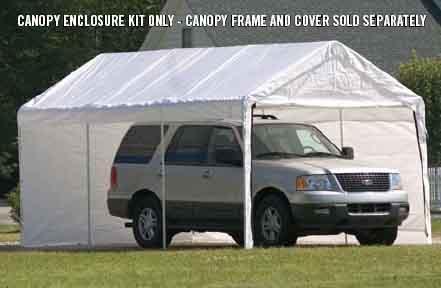 "12×20 White Canopy Enclosure Kit, Fits 2"" Frame"