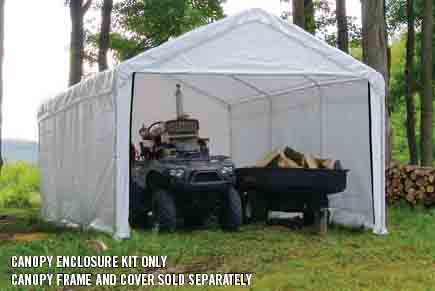"12×30 White Canopy Enclosure Kit, Fits 2"" Frame"