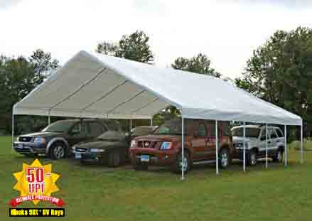 """30x30 Canopy, 2-3/8"""" Frame, White Cover"""