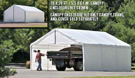 30x40 White Canopy Enclosure Kit