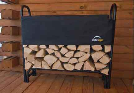 4' Covered Firewood Rack