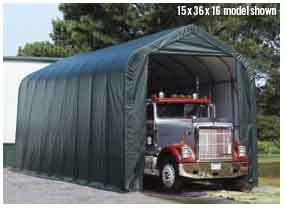 15x24x12 Peak Style Shelter