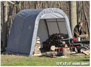 11x16x10 Round Style Shelter