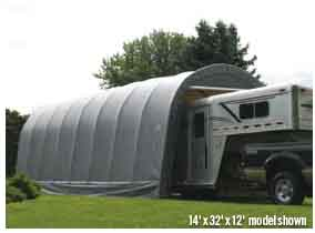 14x36x12 Round Style Shelter