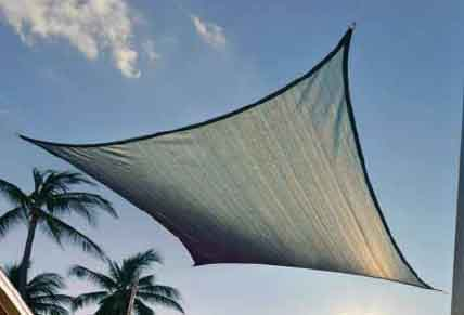 16 ft. / 4,9 m Square ShadeSail - Sea