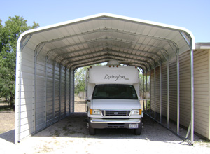 Carports online price guarantee metal rv carport covers for Motorhome garage kits