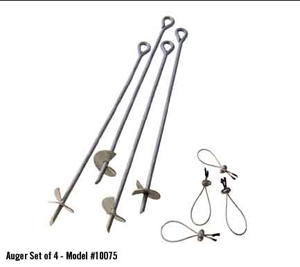 "4 Pcs 30"" Auger Anchor"