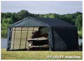 12x28x8 Peak Style Shelter