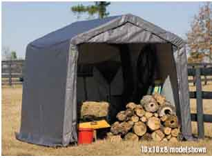 9x8x10 Peak Style Shelter