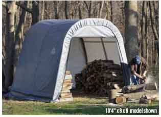 8x12x8 Round Style Shelter