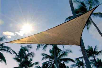 12 ft. / 3,7 m Triangle ShadeSail - Sand