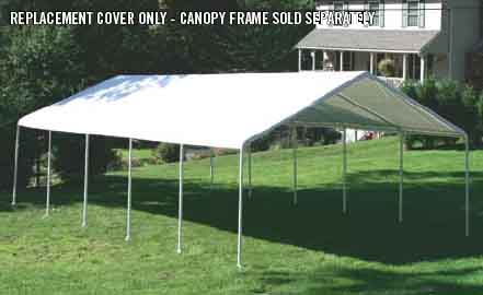 "18×40 Canopy White Replacement Cover for 2"" Frame"