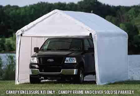"10×20 White Canopy Enclosure Kit, Fits 1-3/8"" Frame"