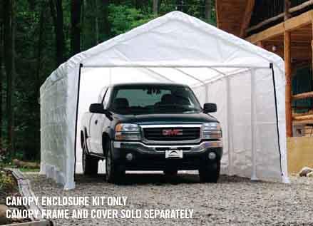 "12×26 White Canopy Enclosure Kit, Fits 2"" Frame"