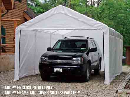 "10×20 White Canopy Enclosure Kit, Fits 2"" Frame"