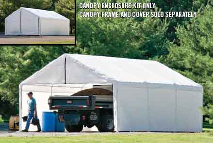 18×20 White Canopy Enclosure Kit