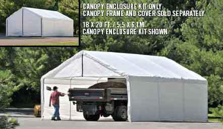18×30 White Canopy Enclosure Kit, FR rated