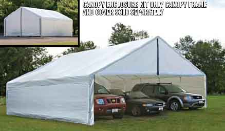 30x30 White Canopy Enclosure Kit