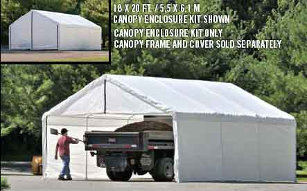 30x50 White Canopy Enclosure Kit