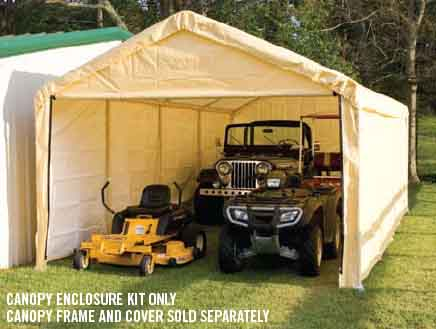 "12×26 Tan Canopy Enclosure Kit, Fits 2"" Frame"