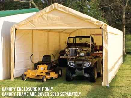 "12×26 Tan Canopy Enclosure Kit, Fits 2"" Frame"