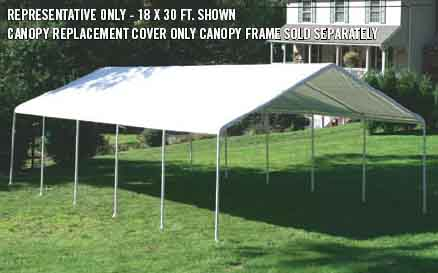 "30x50 Canopy White Replacement Cover for 2-3/8"" Frame"