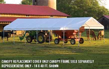 """30x40 Canopy White Replacement Cover for 2-3/8"""" Frame"""