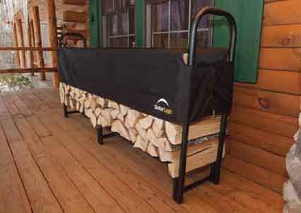 8' Covered Firewood Rack
