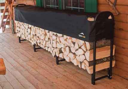 12' Covered Firewood Rack