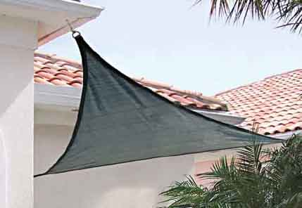 16 ft. / 4,9 m Triangle ShadeSail - Sea